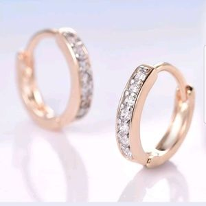 Jewelry - 18k gold-filled Rose gold hoop earrings